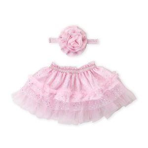 FIRST STEPS (Newborn Girls) Two-Piece Headband & Tutu Set