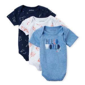 PETIT LEM (Newborn Boy) 3-Piece Bodysuit Set