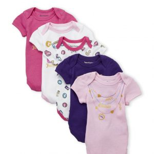(Newborn Girls) Crown Jewel 5-Pack Bodysuits