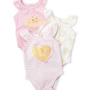 JUICY COUTURE Three-Pack Heart Bodysuit Set