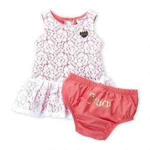 JUICY COUTURE (Newborn/Infant Girls) Two-Piece Floral Dress & Shorts Set