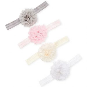 AVA OLIVIA (Infant Girls) Pom-Pom Headband 4-Pack