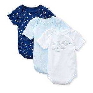 STERLING BABY (Newborn Boys) 3-Pack To-The-Moon Bodysuits