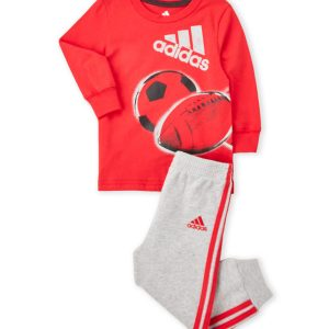 ADIDAS (Newborn/Infant Boys) Two-Piece Tee & Sweatpants Set
