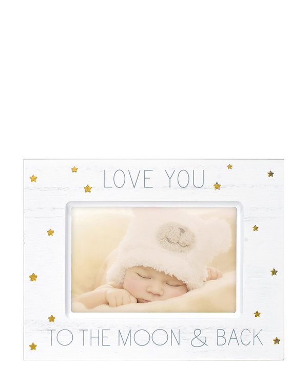 MALDEN 4″ x 6″ Love You To The Moon & Back Picture Frame