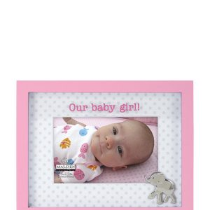 "MALDEN 4"" x 6"" Baby Girl Picture Frame"