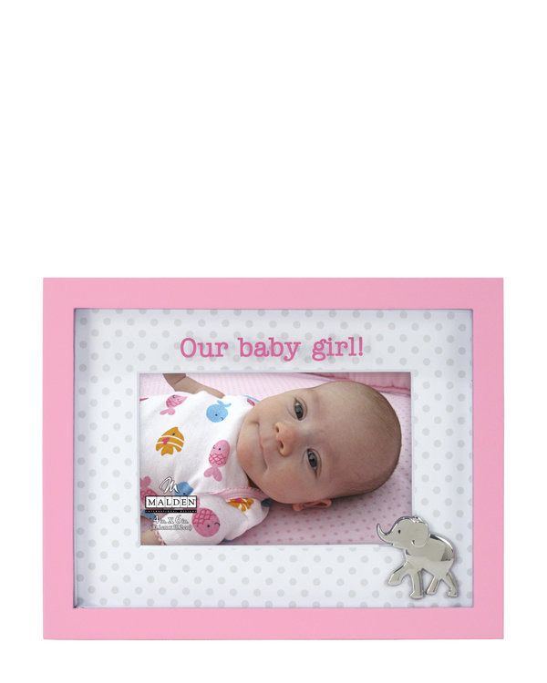 MALDEN 4″ x 6″ Baby Girl Picture Frame