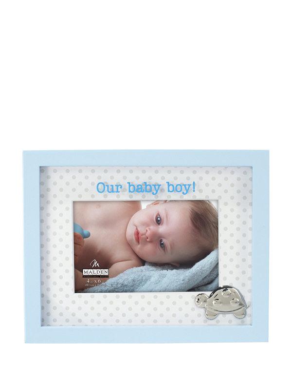 MALDEN 4″ x 6″ Baby Boy Picture Fram