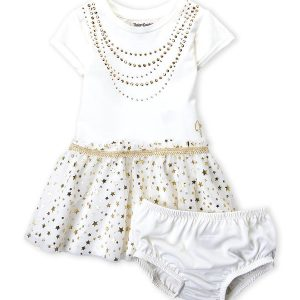 JUICY COUTURE (Infant Girls) Two-Piece Studded Tutu Dress & Bloomers Set