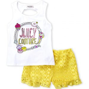 JUICY COUTURE (Infant Girls) Two-Piece Sweet Treats Tank & Lace Shorts Set
