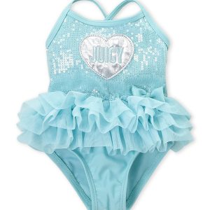 JUICY COUTURE (Infant Girls) Sequin Tutu One-Piece Swimsuit