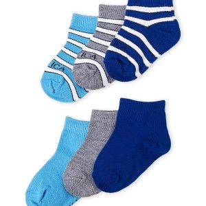 NAUTICA (Infant Boys) 6-Pack Striped Socks