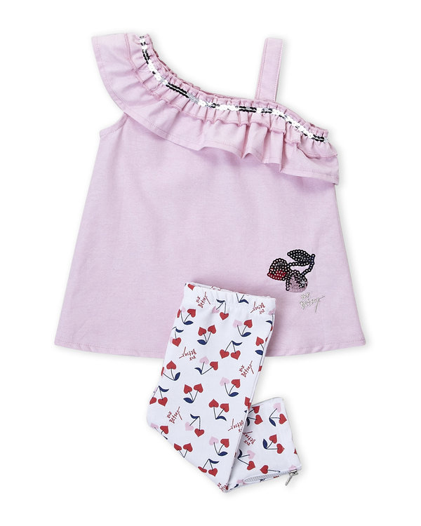 BETSEY JOHNSON (Infant Girls) Two-Piece One-Shoulder Top & Pants Set
