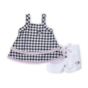 BETSEY JOHNSON (Infant Girls) Two-Piece Ruffle Top & Shorts Set