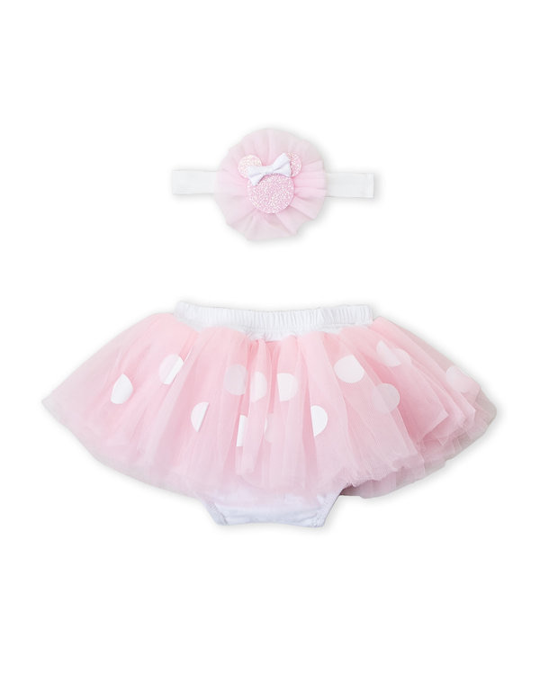 DISNEY BABY (Infant Girls) Two-Piece Minnie Mouse Tutu & Headwrap Set