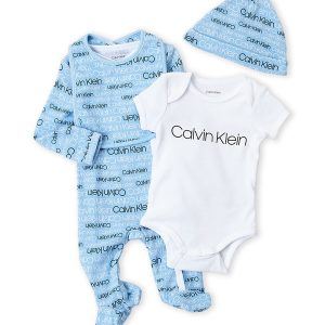 4-Piece Logo Bodysuit & Footie Set