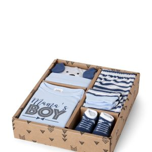 4-Piece Mama's Boy Bodysuit, Pants, Hat & Socks Set
