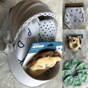 Lion Toy & bibs basket