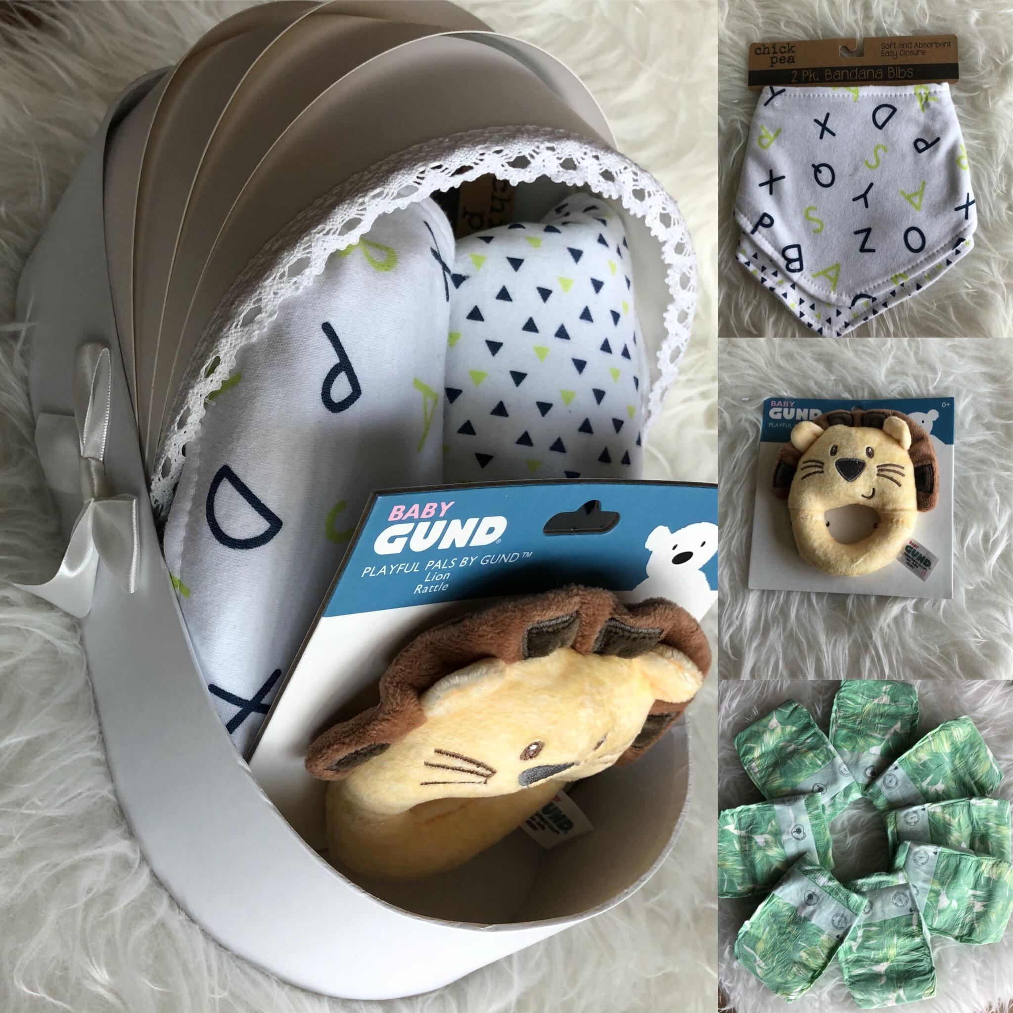 Lion Toy & bibs basket