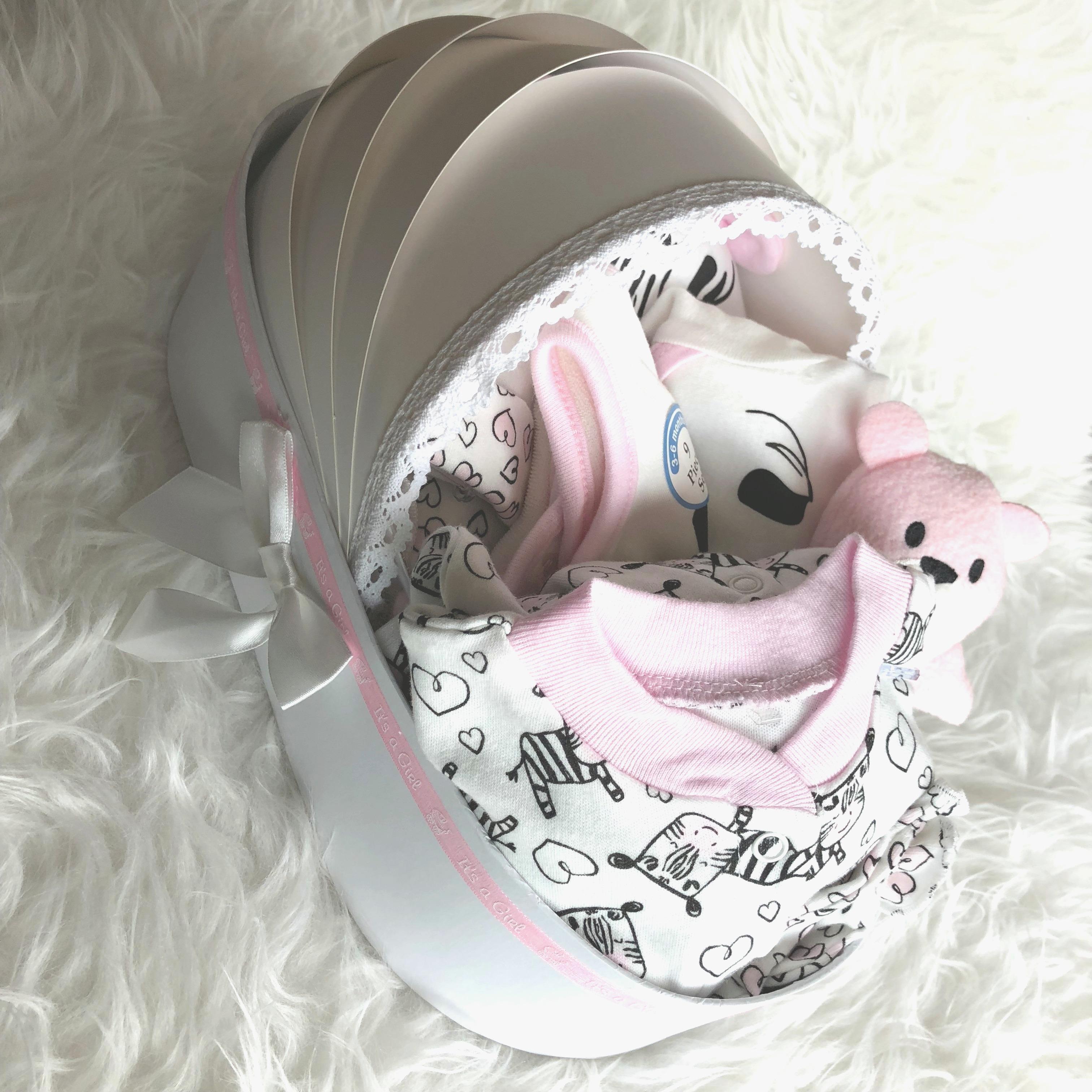 CUTIE PIE (Newborn Girls) 9-Piece Zebra Gift Set
