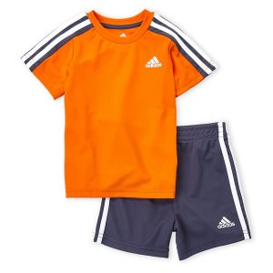 ADIDAS (Infant Boys) Two-Piece Tricot Tee & Active Shorts Set