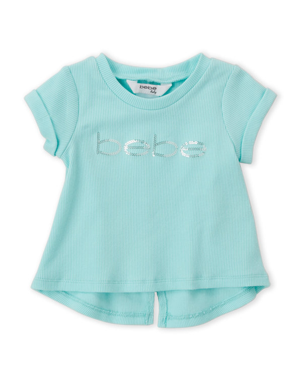 BEBE BABY (Infant Girls) Sequin Logo Tee