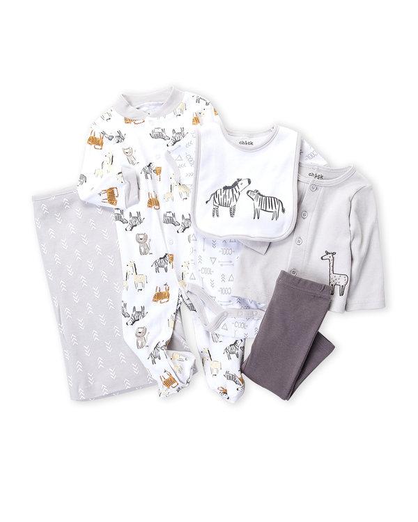 CHICK PEA (Newborn Boys) 8-Piece Giraffe Hanging Gift Set
