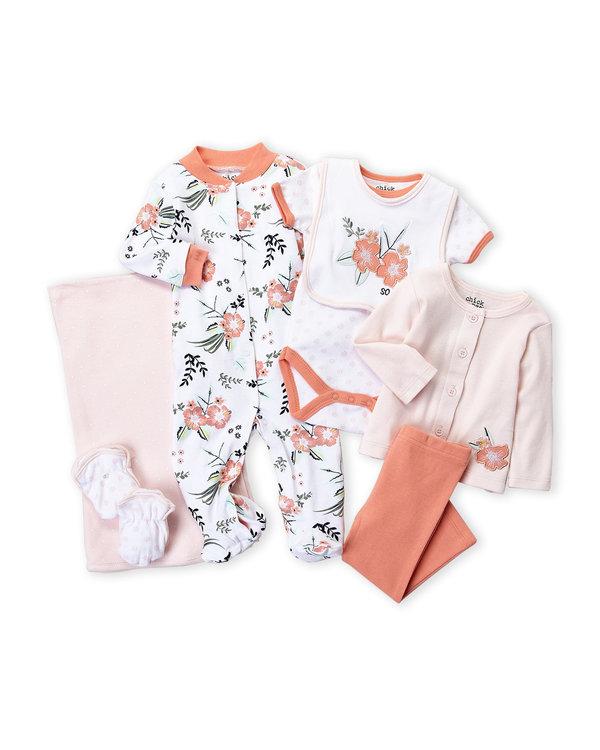 CHICK PEA (Newborn Girls) 8-Piece Flower Hanging Gift Set