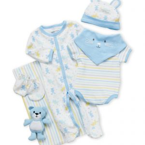CUTIE PIE (Newborn Boys) 9-Piece Bunny Hanging Gift Set