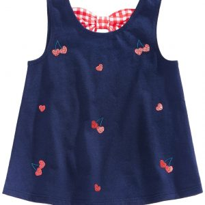Cherry & Bow Cotton Top, Baby Girls,