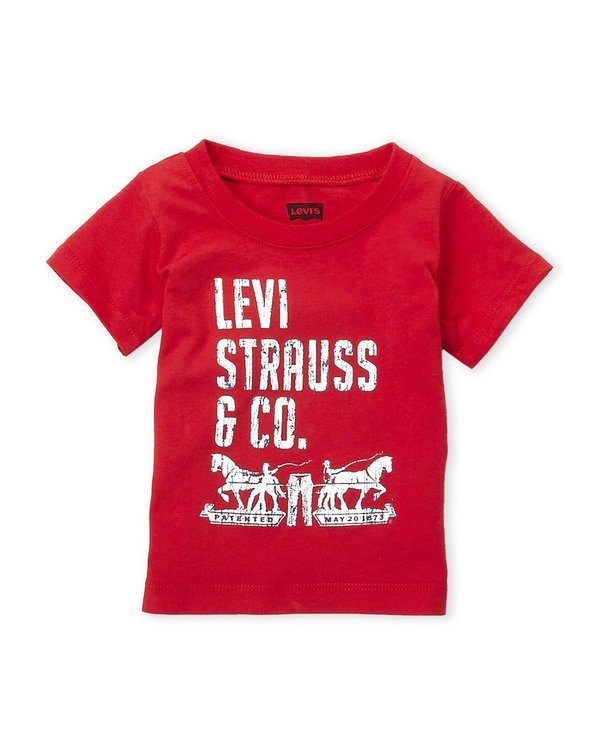 LEVI'S (Infant Boys) Logo Tee red