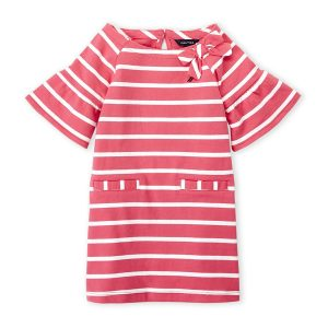 NAUTICA (Infant Girls) Two-Piece Stripe Jersey Shift Dress & Bloomers Set
