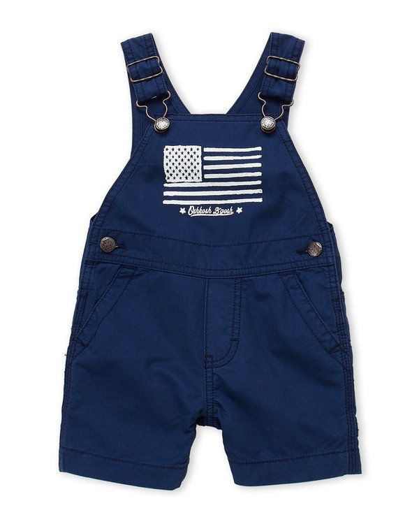 OSH KOSH B'GOSH (Newborn:Infant Boys) American Flag Overalls