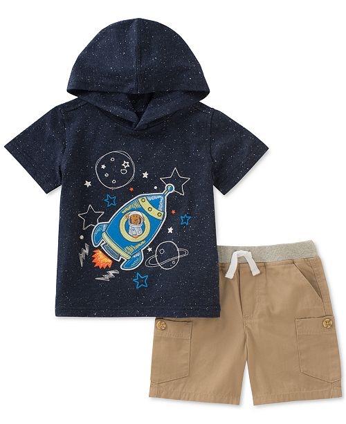 2-Pc. Graphic-Print T-Shirt & Shorts Set, Baby Boy