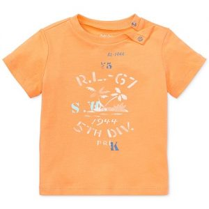 Ralph Lauren Cotton Jersey Graphic T-Shirt, Baby Boys & Baby Girls