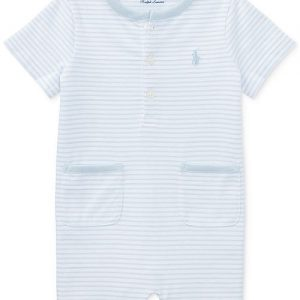 Polo Ralph Lauren Ralph Lauren Striped Cotton Romper, Baby Boys
