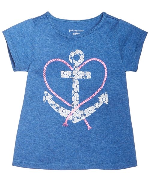 Print Cotton T-Shirt, Baby Girls