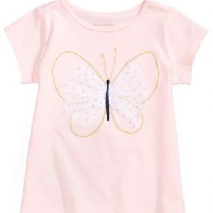 Graphic-Print T-Cotton Shirt, Baby Girls,