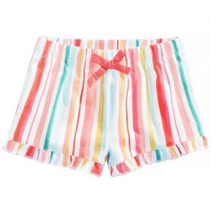 Ruffled Cotton Shorts, Baby Girls,