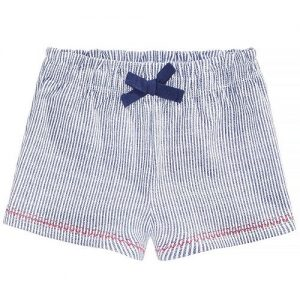 Striped Cotton Shorts, Baby Girls
