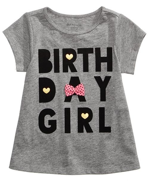 Birthday-Print Cotton T-Shirt