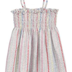Baby Girls Dot-Print Smocked Cotton Sundress