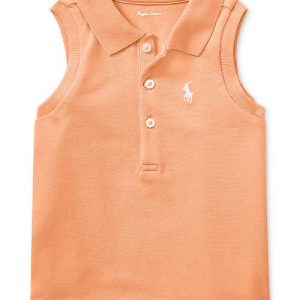 Sleeveless Cotton Polo