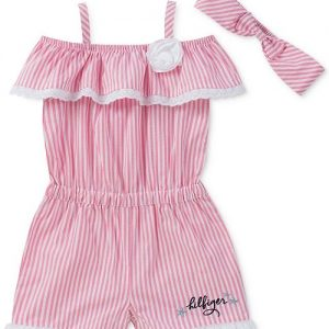 Striped Romper & Headband