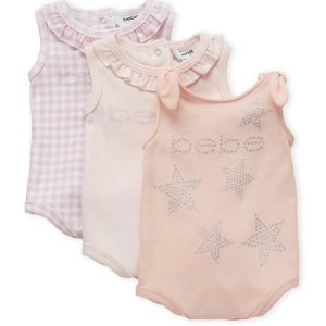 BEBE BABY (Newborn Girls) Two-Pack Flutter Sleeve Bodysuit Set