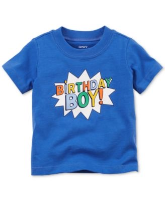 Birthday Boy Cotton T-Shirt, Baby Boys