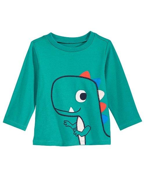 T-Rex-Print Cotton T-Shirt, Baby Boys