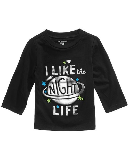 Night Life-Print Cotton T-Shirt