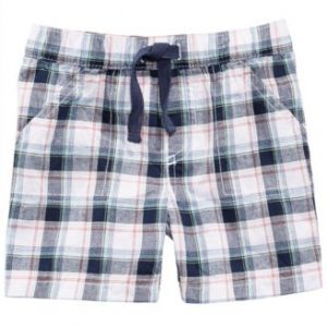 First Impression Plaid Cotton Shorts