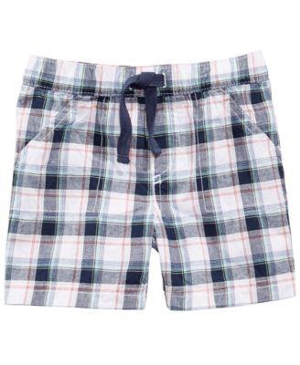 First Impression Plaid Cotton Shorts